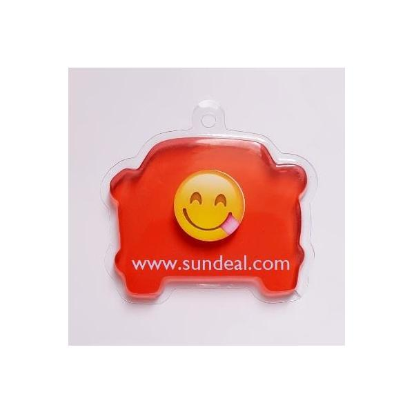 Emoji design/Crystal Gel air freshener-tray-hang type (car shape)