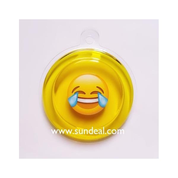 Emoji design/Crystal Gel air freshener-tray-hang type(round shape)