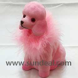 Nodding Dog Air Freshener- Pink Poodle